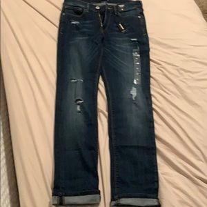 Express jeans cropped skinny